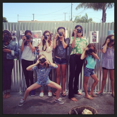 Photography students from the South Bay Art Department's 2013 photography camp get ready to capture their summer.  Photo by Chelsea Schreiber