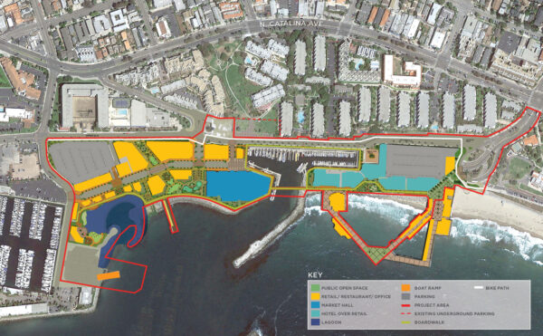 The proposed Waterfront Project. Site plan courtesy CenterCal