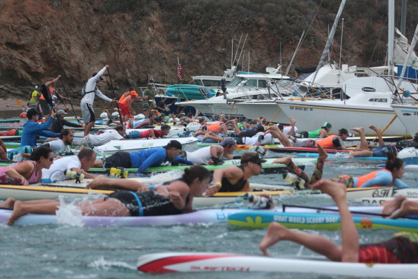Over 100 paddlers competed in this year's Rock 2 Rock. Photo by Blythe Peelor