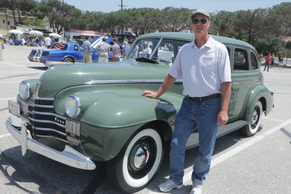 Joe Tannerbaur with his 1940 Oldsmobile.