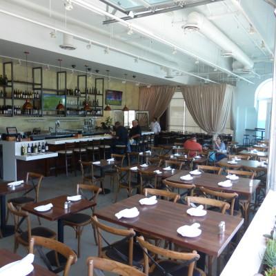 Petros Kafe in El Segundo has modern style unusual for El Segundo. Photo by Richard Foss