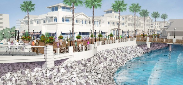 A rendering of the proposed Waterfront Project. Courtesy CenterCal