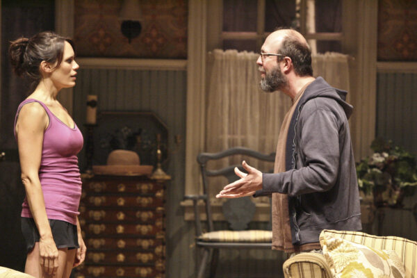 Emily Swallow as Nell and Eric Lange as Elliot. Photo by Michael Lamont