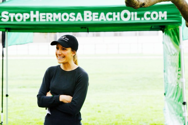 Stacey Armato at a Stop Hermosa Beach Oil event at South Park in Hermosa Beach earlier this year.