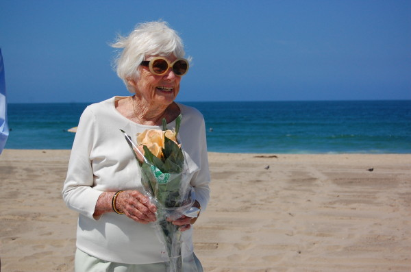 Evelyn Frey at the Pathway to Sea ribbon-cutting ceremony Friday. Photos by Esther Kang