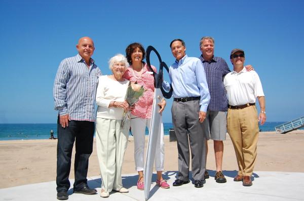 Evelyn Frey with the Manhattan Beach City Council
