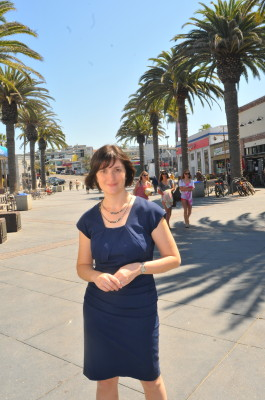 Sandra Fluke, pictured here at the Hermosa Beach Pier, will move on to the general election in November. Photo courtesy of the Fluke campaign.