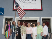 """""""Another Summer with the Ladies"""" had a grand closing night celebration. Among the artists on hand were, l-r, Lynn Attig, Paula Izydorek, Dolores Garren, Suzanne Steck, Kay Bonanno, Janet Milhomme, Edie Pfeifer, and Patty Grau GLORIA PLASCENCIA, CONTRIBUTING PHOTOGRAPHER"""