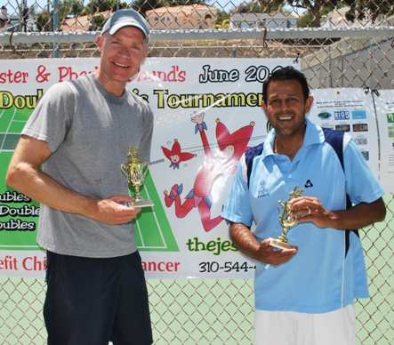 Robert Cook and Bobby Virasingh won the Men's Doubles A Division title.