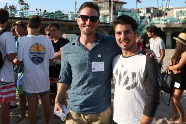 Pete Halvorsen and Instagram North America Community Advocator Jeffrey Gerson.