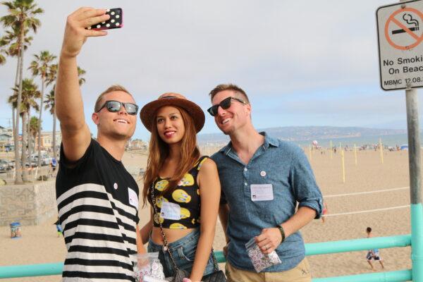 Pete Halvorsen, Instagramer Yeyen Ong, and Slater Trout.