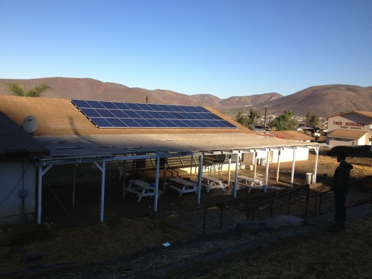 The three solar panels on Casa Hogar's rooftops provide electricity for the 3.5-acre site. Courtesy of Randy Meadors