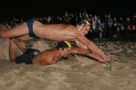 Close finishes make the Lifeguard Beach Flags competition an exciting event for spectators. ER file photo