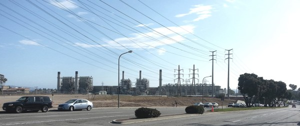The AES power plant from Herondo Street and Pacific Coast Highway. Courtesy AES Southland.