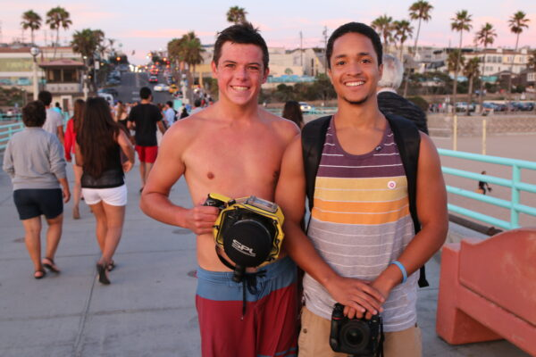 Mira Costa student Pat Komick and Redondo resident Cody Spence share a common interest in water photography.