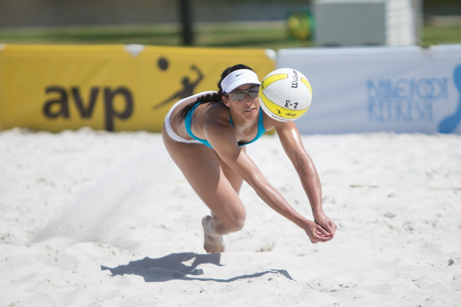 Former Mira Costa High School standout Lane Carico is competing on the international level in only her second full season as a professional beach volleyball player. Photo by Mpu Dinani/Getty Images