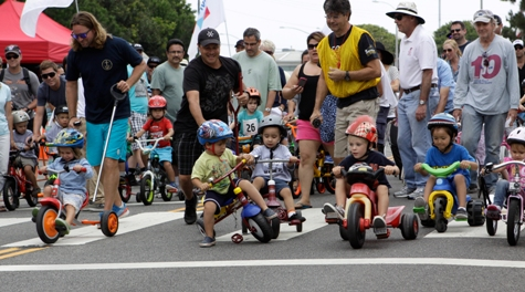 The popular kids race concludes the day's events that feature cyclists of all ages and skill levels. Photo by Ray Vidal
