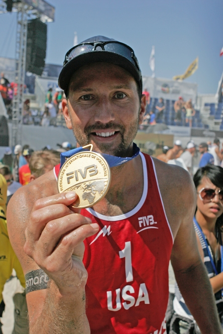 Redondo Beach native Sean Rosenthal and partner Phil Dalhausser are defending gold medal champions of the FIVB Long Beach Grand Slam. Photo by Ray Vidal