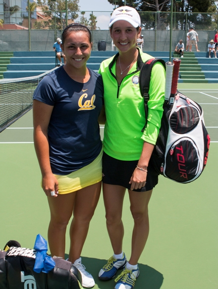 Former Mira Costa standout Maegan Manasse, left, and finals opponent Ana Lorena Belmar-Osuna. Photo by Brad Jacobson