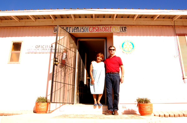 Soledad Cotez, Casa Hogar's 22-year director, with Randy Meador on a recent visit