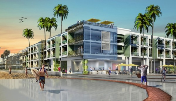 Strand & Pier, a three-story hotel with a rooftop pool and 120 rooms could be at the northwest corner of The Strand and Pier Plaza in Hermosa Beach as early as 2018. Photo Courtesy of Bolour Associates, Inc.
