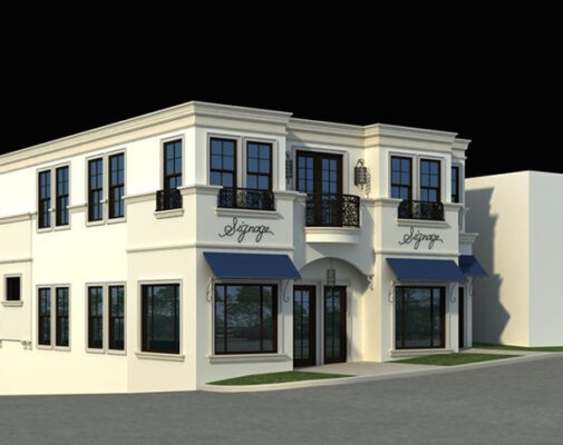A rendering of the new building at 1141 Highland Ave. in downtown Manhattan Beach, set for completion in a few months. Rent will be $10 to $15 per square foot. Courtesy of Tony Choueke