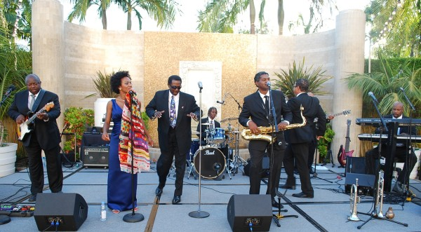 """The Blue Breeze Band dubs itself as the """"finest in Motown, soul, fun, R&B, jazz and blues."""" They must be doing something right because they're back in the South Bay on Sunday at Fiesta Hermosa. They are pictured here at the Fairmont Hotel in Newport Beach on August 6. Photo by Harold Wherry."""