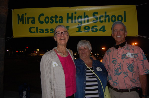 Kathy Bower, Jinx Wible and Pete Tucker, Hermosa Beach mayor pro tem and '64 graduate.