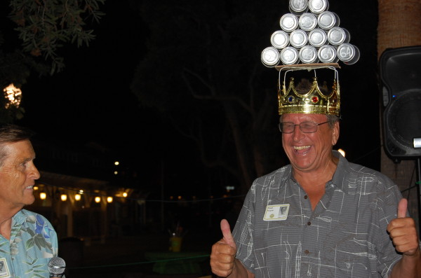 Dave Mulgrew accepts his crown of honor from his class 50 years after his senior prank gone awry.