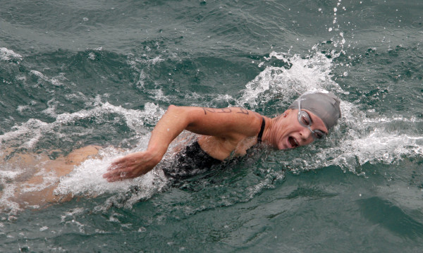 Diane Granner Gallas finished second, one second behind Mallory Meade. Photo by Ray Vidal
