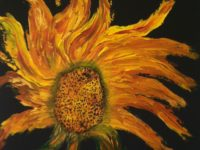"""Sunflower,"" by Lorna Kaye, is among the works on view through August at Harmony Works in Redondo Beach. (310) 791-7104. COURTESY OF HARMONY WORKS"