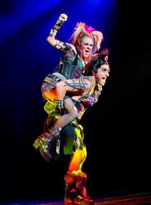 Erica Peck and Jared Zirilli as Oz and Brit (that's Ozzie and Britney, just to be clear). Photo by Paul Kolnik.