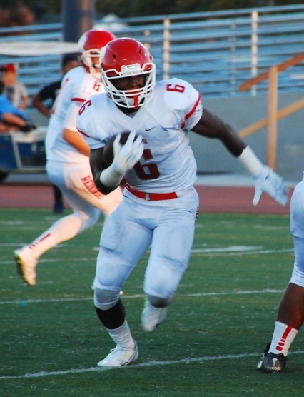 Junior Guy Alford led Redondo with 137 yards on 26 carries. Photo by Randy Angel