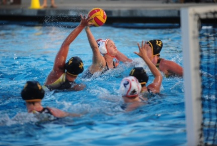 Jordan Raney takes aim while playing for the Huntington Beach Water Polo Club. Photo by Tina Raney