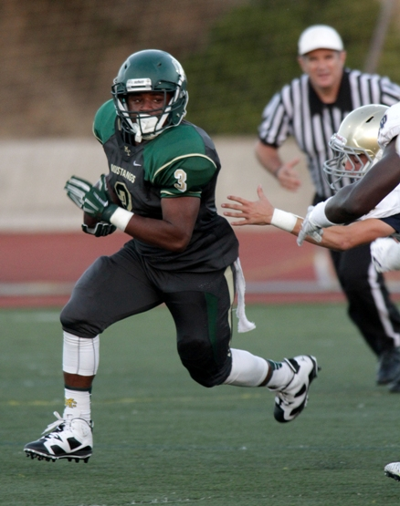 Senior Tre Searcy led Mira Costa's rushing attack with 168 yards and two touchdowns. Photo by Ray Vidal