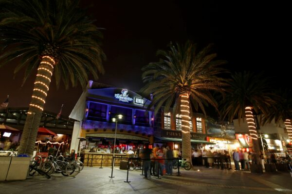 Hermosa Beach city council is considering using the 50/50 rule on food to alcohol sales ratios as an enforcement tool for restaurants with multiple violations, rather than a requrement for all. The change could affect many restaurants in downtown Hermosa Beach, such as Baja Sharkeez, that some residents and city officials say act more like bars.  Staff Photo.