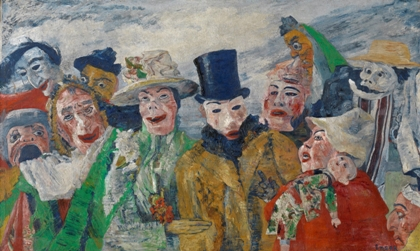 """The Intrigue"" (1890), by James Ensor. Royal Museum of Fine Arts Antwerp. ⓒLukas-Art in Flanders vzw, photo Hugo Maertens. ⓒ2014 Artists Rights Society (ARS), New York/SABAM, Brussels"