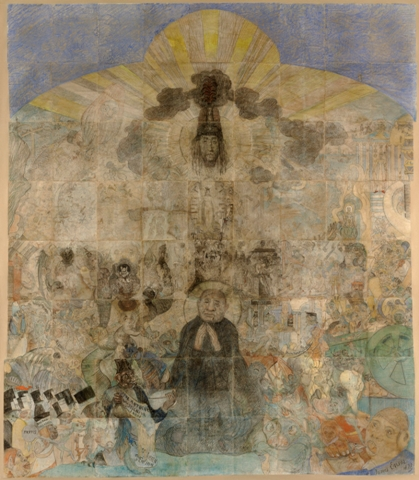 """The Temptation of Saint Anthony"" (1887), by James Ensor. The Art Institute of Chicago. ⓒ Artists Rights Society (ARS), New York/SABAM, Brussels"