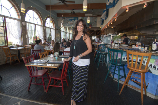 Julie Hantzarides has been running her family's Greek-Italian restaurant Old Venice for 30 years on Manhattan Avenue in downtown Manhattan Beach.