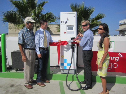 NRG eVgo opens first fast-charging electric vehicle station