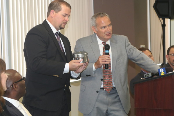 El Segundo economic development analyst Ted Shove and city manager Greg Carpenter