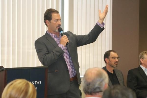 Emcee Drew Boyles, chair of the Economic Development Advisory Council.
