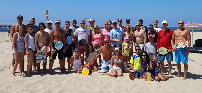Participants enjoyed the friendly competition of the Endless Summer beach tennis tournament. Photo courtesy of West Coast Beach Tennis