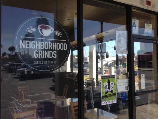 Neighborhood Grinds coffee shop on Artesia in North Redondo has closed. Photo by Alyssa Morin.