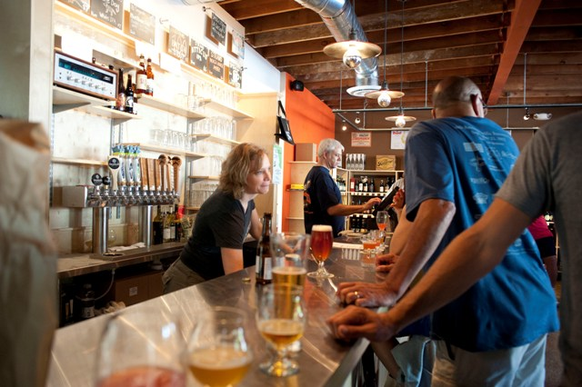 Wes Jacobs and his wife Heather own Select Beer Bottle Shop and Tap Room in Redondo Beach. Photo by Chelsea Schreiber.