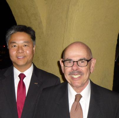 Congressman-elect Ted Lieu and retiring Congressman Henry Waxman. Photo