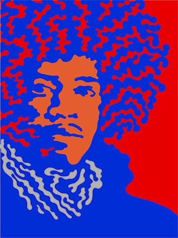 50 Year Hendrix Poster