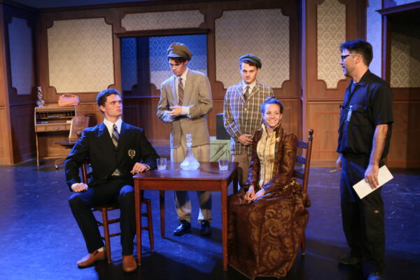 "Getting in character for ""The Matchmaker."" L-r, Kavon Tiegs, Preston Doran, Ryan Fiene, Julia McDermott, and director Cary Jordahl BONDO WYSZPOLSKI, STAFF PHOTOGRAPHER"