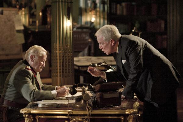 Niels Arestrup as General Dietrich von Choltitz and André Dussollier as Consul Raoul Nordling in DIPLOMACY. A film by Volker Schlöndorff. A Zeitgeist Films release. Photo: Jérôme Prébois