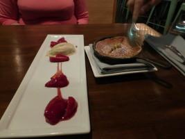 The souffléd pancake dessert. Photo by Richard Foss.